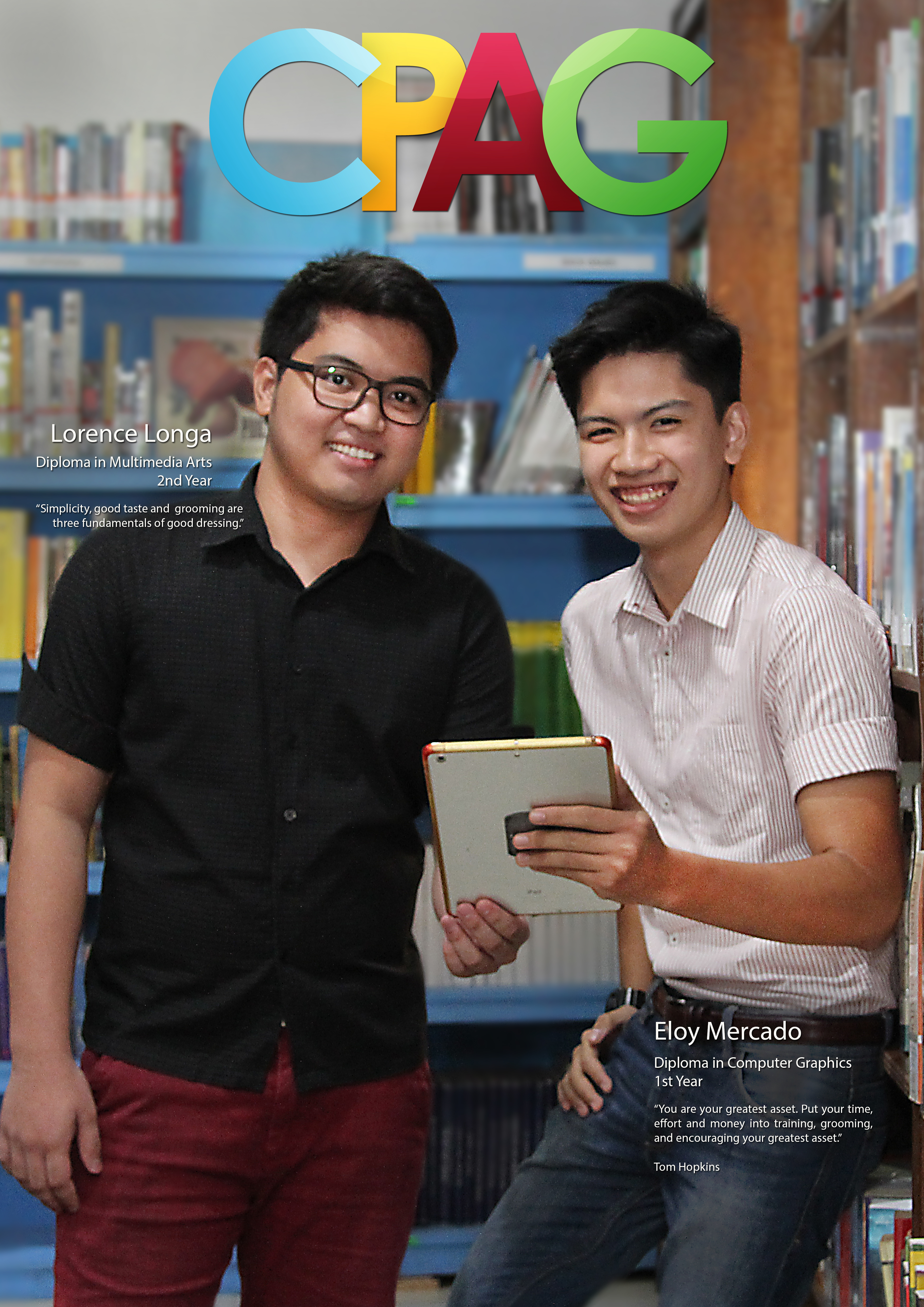 cpag campaign: students at the library