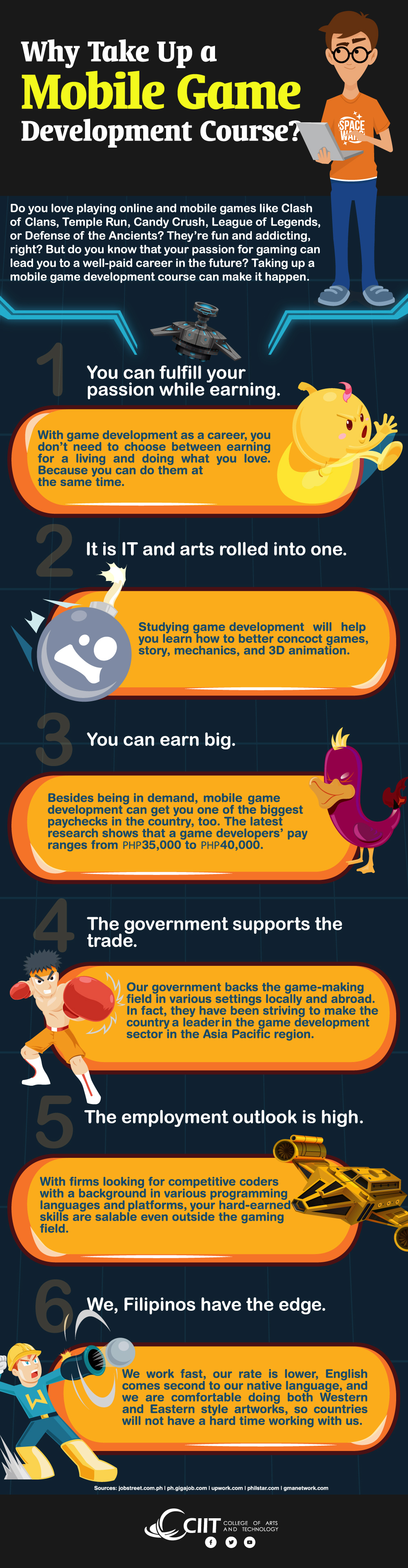 Why Take Up a Mobile Game Development Course -  Infographic