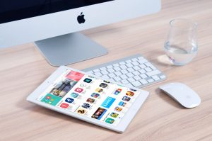 iPad with mobile apps - mobile app developer