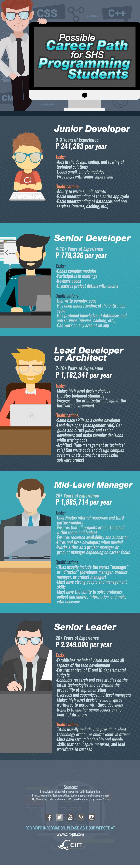 senior high school programming: infographic