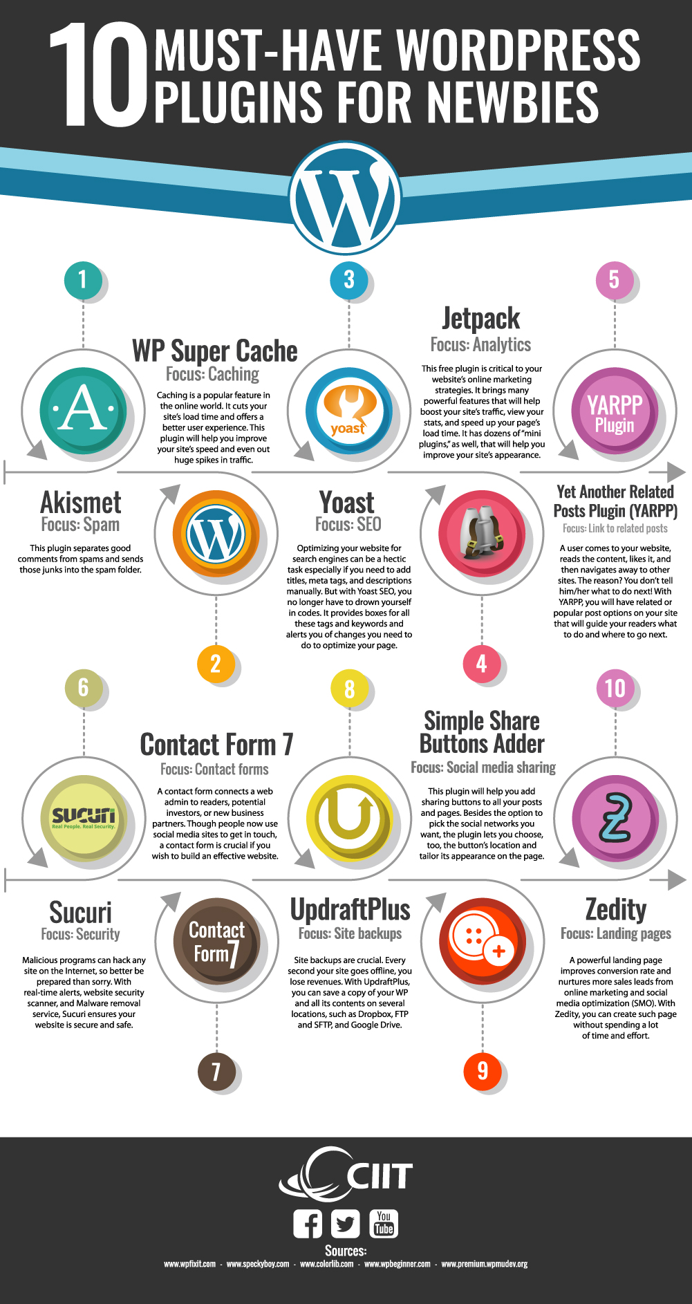 10 Must-Have WordPress Plugins for Newbies - CIIT Infographic - WordPress for Business