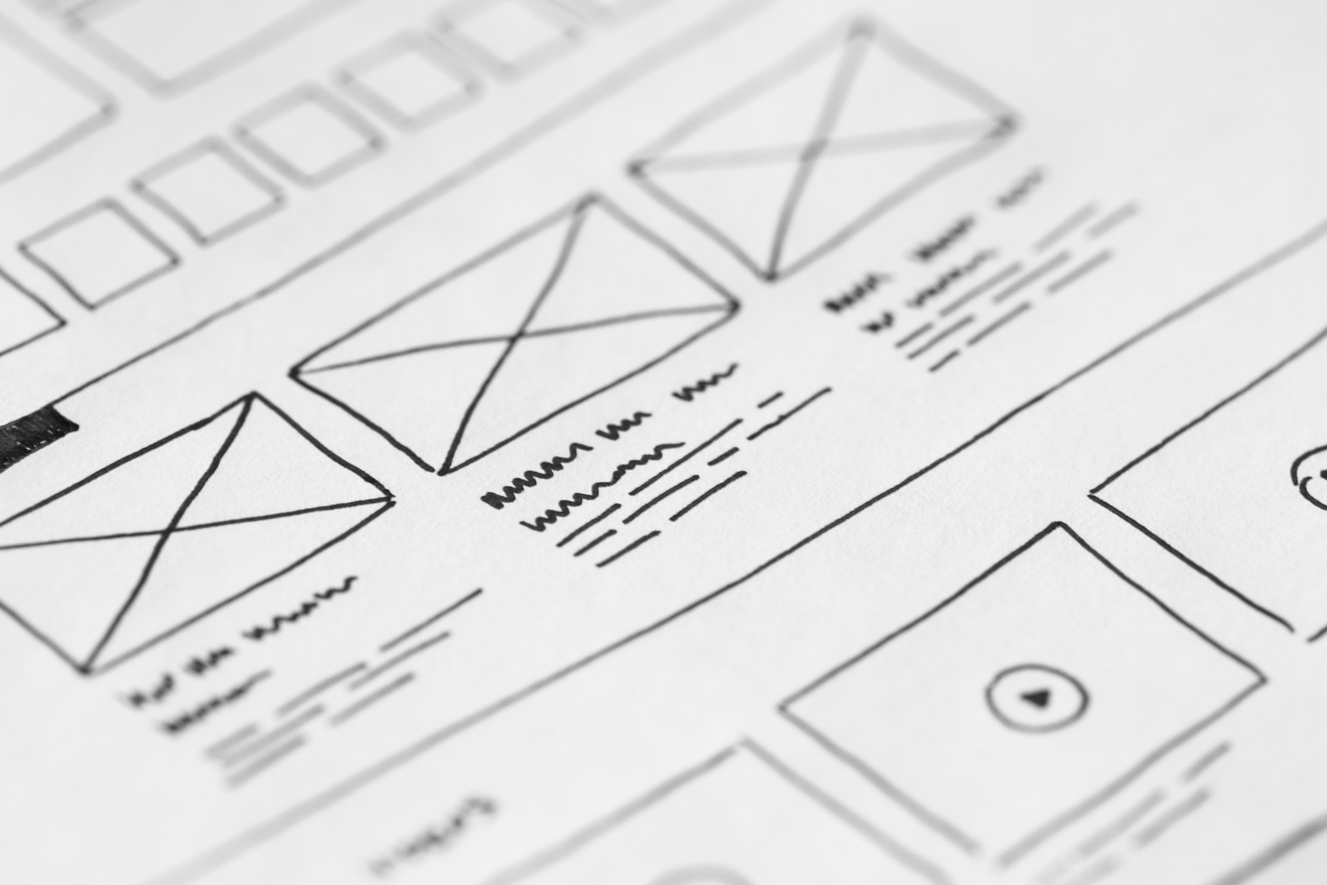 Web Design Template on a Paper