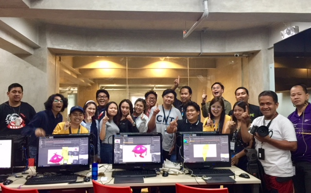 CIIT Animation Production and GMA AHA! Production Team during the Behind the Scene Shoot last April 24, 2018