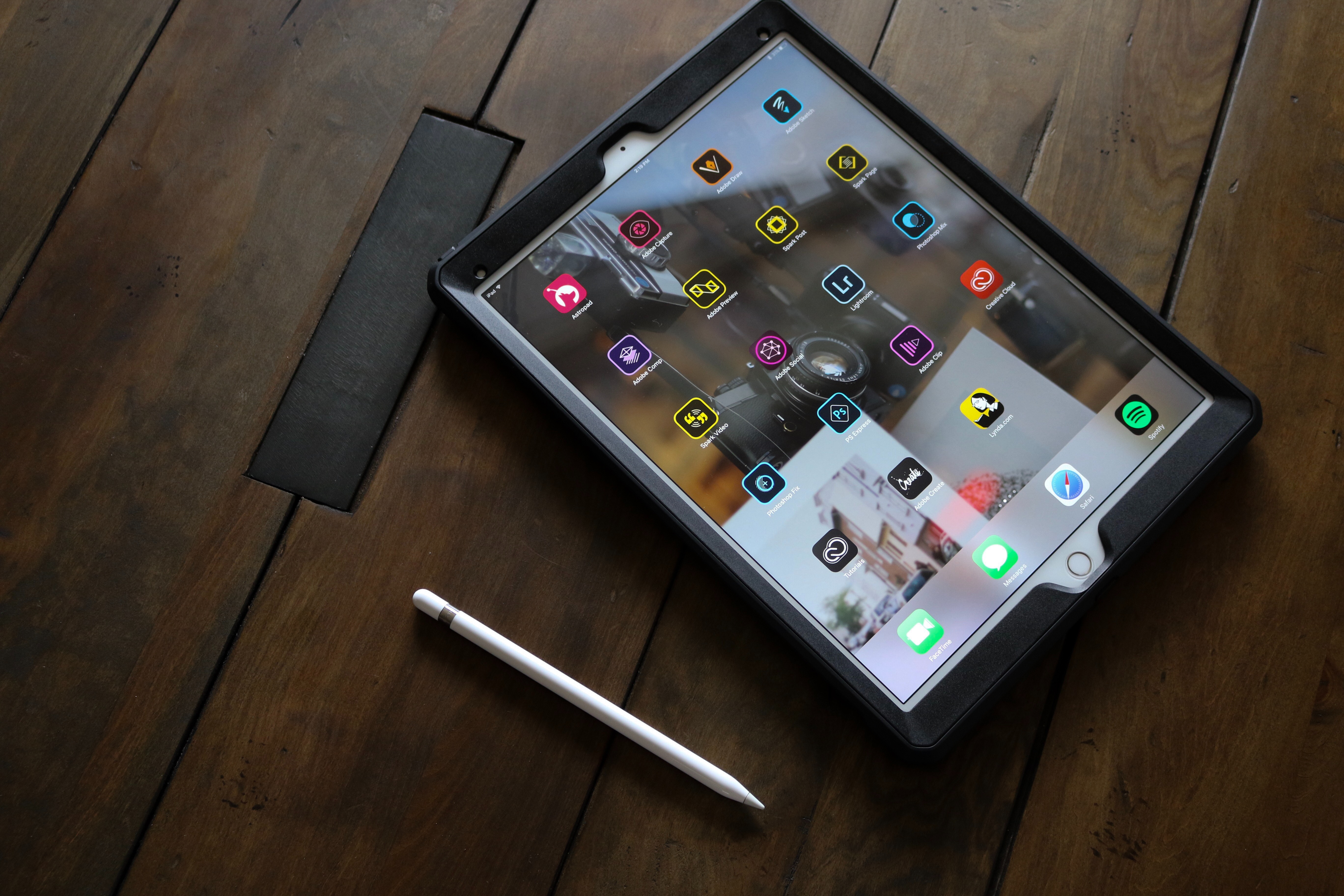 a tablet with educational apps