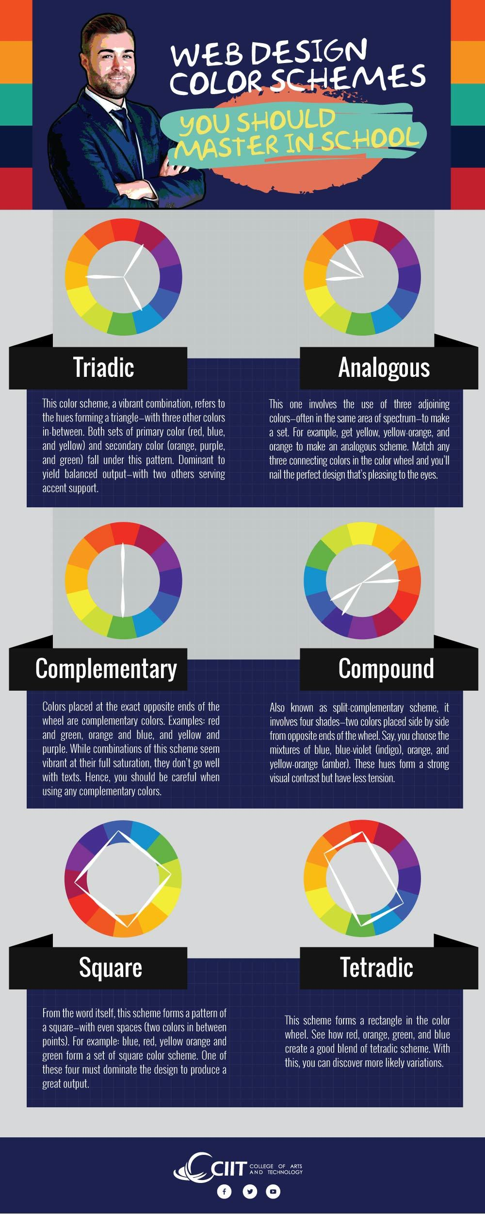 Web Design Color Schemes You Should Master in School