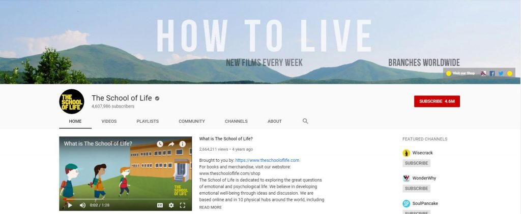 The School of Life YouTube Channel