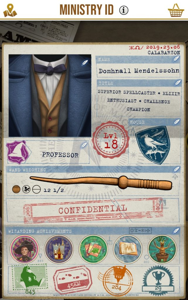 HP Wizards Unite Ministry ID