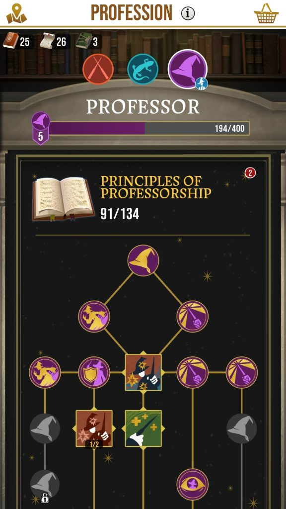 HP Wizards Unite Skill Tree