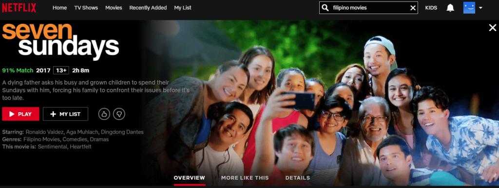 Netflix Philippines: Seven Sundays