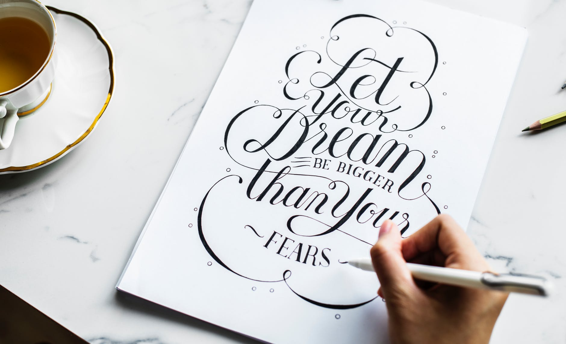 Passion for the art of traditional lettering