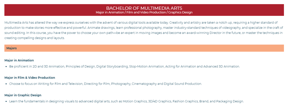 Best animation school courses