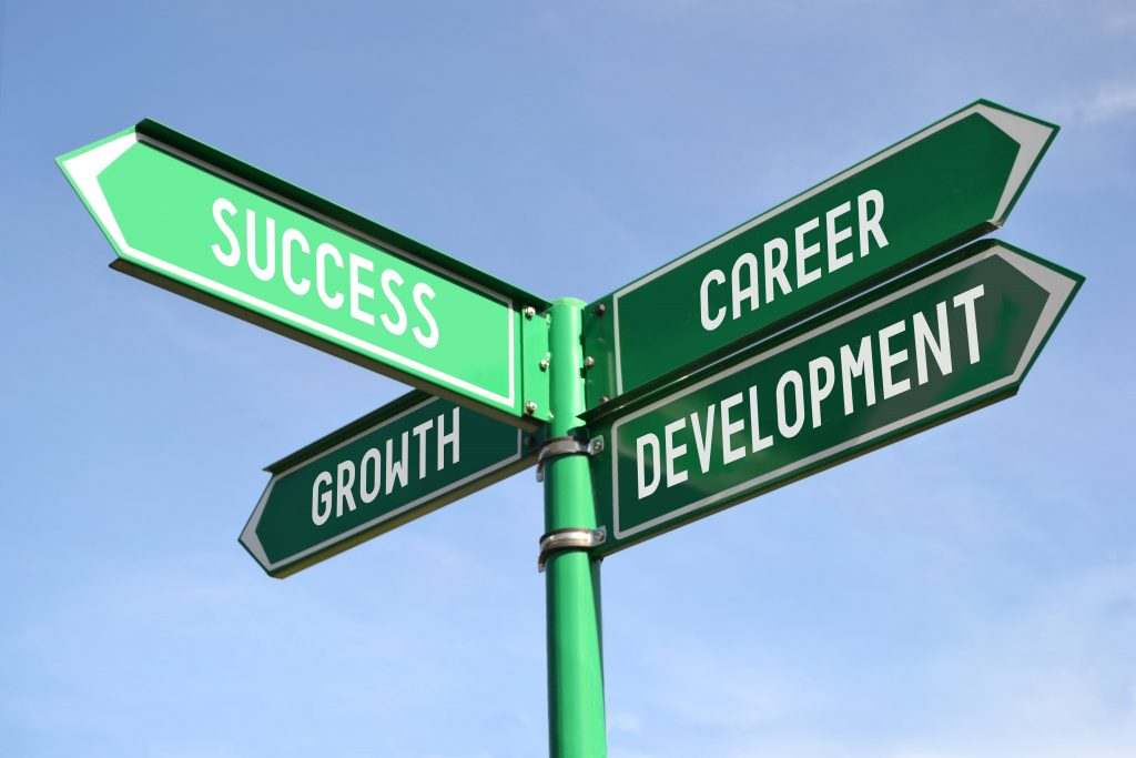 Digital marketing course Philippines street sign that says success growth and career development