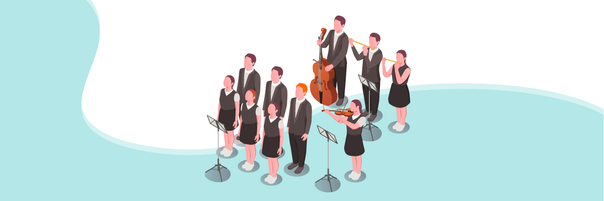 Multiple intelligences – Music-smart choir members performing