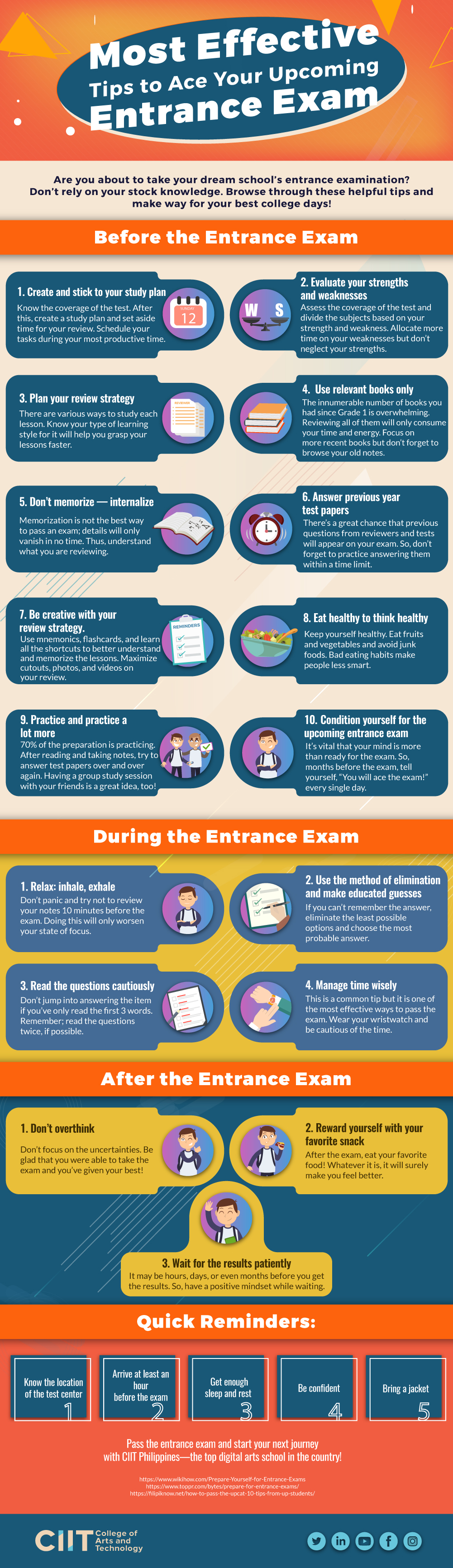 Most Effective Tips to Ace Your Upcoming Entrance Exam Infographic