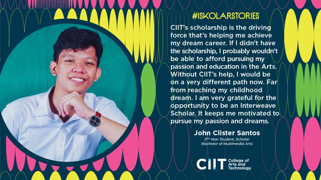 John Clister Santos - CIIT Iskolar Stories